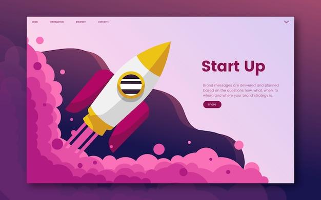 Start informatie grafische website Gratis Vector