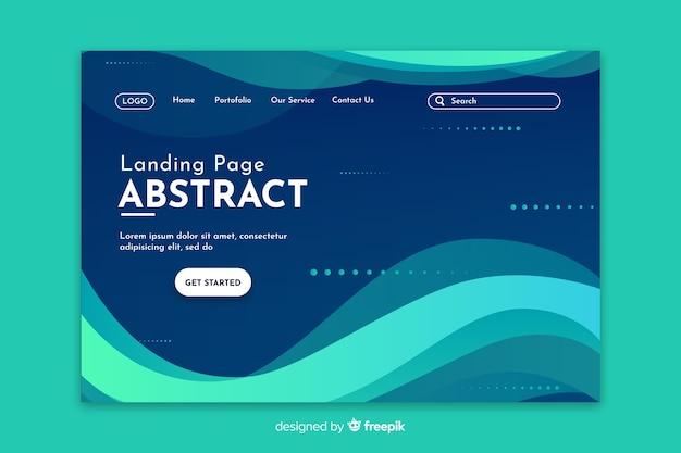 Startende abstracte turquoise landingspagina Gratis Vector