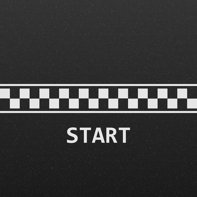 Startlijn racebaan Premium Vector