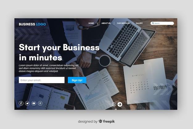 Startpagina voor startende bedrijven Gratis Vector