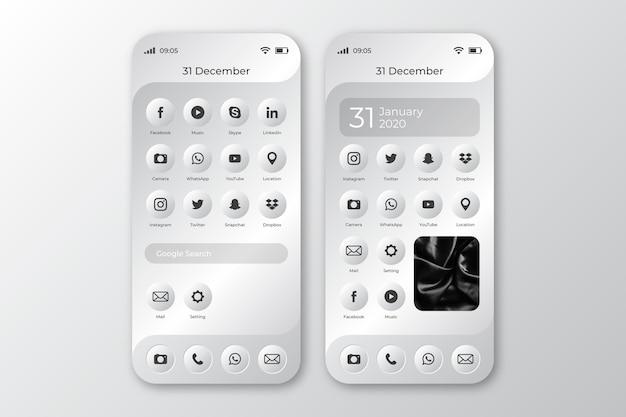 Startscherm van smartphone Gratis Vector