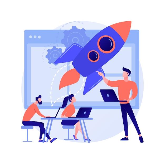 Startup abstract concept Gratis Vector