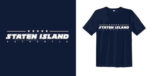 Staten island authentiek stijlvol t-shirtontwerp Premium Vector