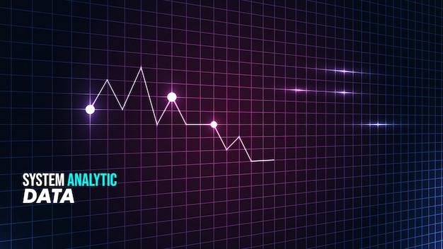 Statistische visualisatie achtergrond met futuristische stijl Premium Vector