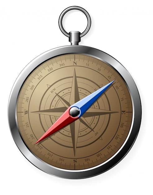Steel compass Premium Vector