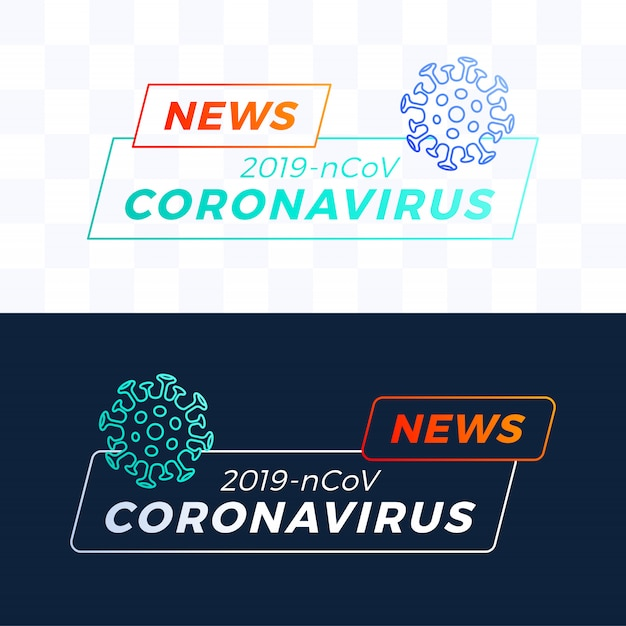 Stel outline breaking news headline covid-19 of coronavirus in. coronavirus in wuhan illustratie. Premium Vector