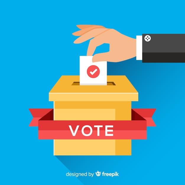 Stem- en verkiezingsconcept Gratis Vector