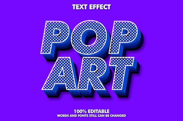 Sterk gewaagd 3d-retro pop-art teksteffect voor oude stijl Premium Vector