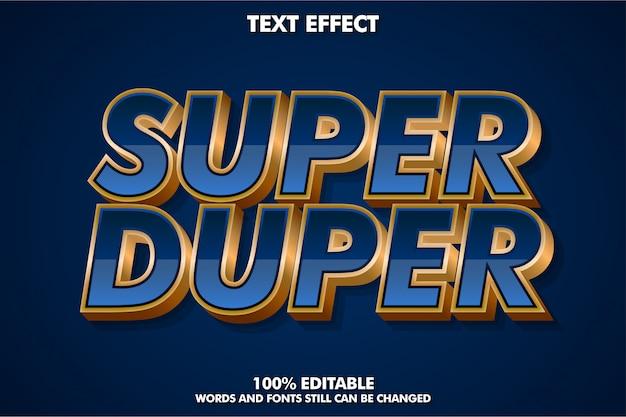 Sterk gewaagd luxe lettertype-effect Premium Vector