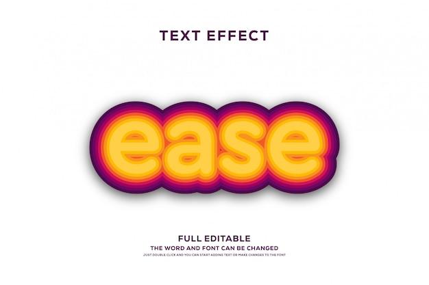 Sterk gewaagd modern lettertype-effect Premium Vector