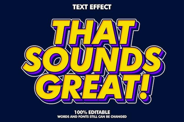 Sterk gewaagd retro pop-art teksteffect voor oude stijl Premium Vector