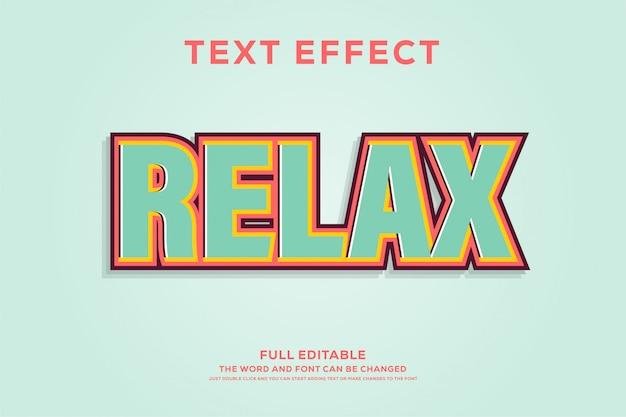 Sterk vet retro pop-art teksteffect Premium Vector