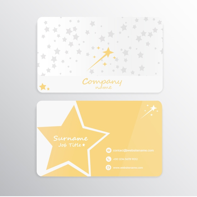 Sterren visitekaartje Premium Vector