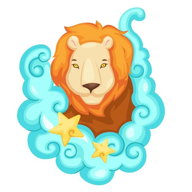 Sterrenbeelden - lion vector illustratie Premium Vector