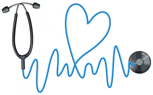 Stethoscoop als symbool van een goede gezondheid Gratis Vector