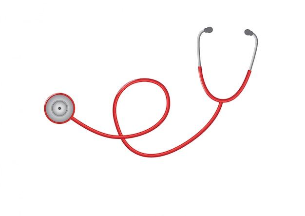 Stethoscoopontwerp op illustratie. Premium Vector