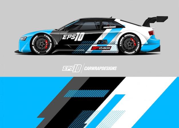 Sticker met sportwagen Premium Vector