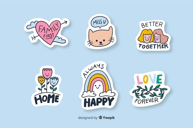 Sticker om verschillende soorten foto's te versieren Gratis Vector
