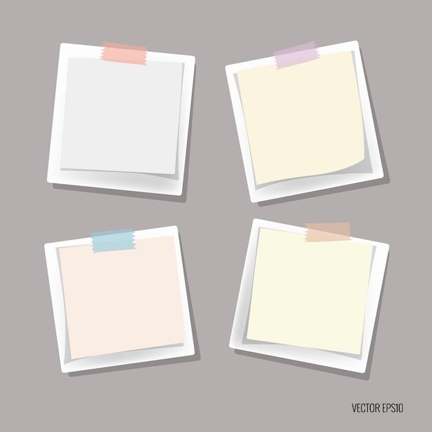 Sticky note collectie Gratis Vector