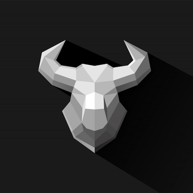 Stier veelhoek ontwerp vectorillustratie Premium Vector