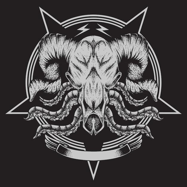 Stieren bot tentakel Premium Vector