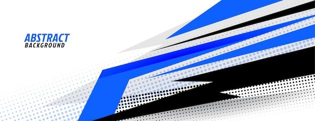 Stijlvol blauw en wit sportdesign Gratis Vector