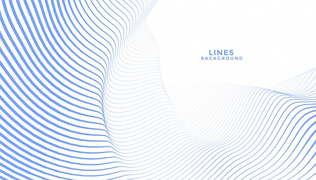 Stijlvol blauw golvend lijnen abstract ontwerp als achtergrond Gratis Vector
