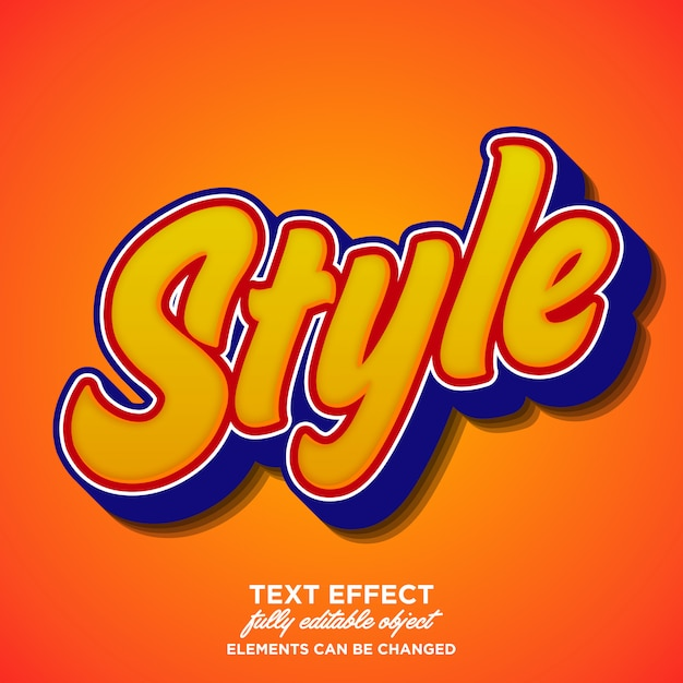 Stijlvol en trendy scriptlettertype-effect Premium Vector