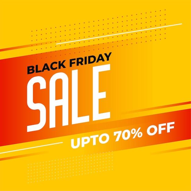 Stijlvol zwart vrijdag geel verkoopbannerontwerp Gratis Vector