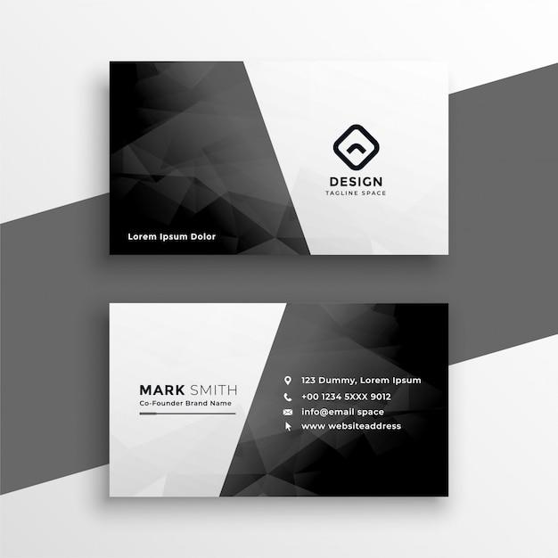 Stijlvol zwart-wit visitekaartje Gratis Vector