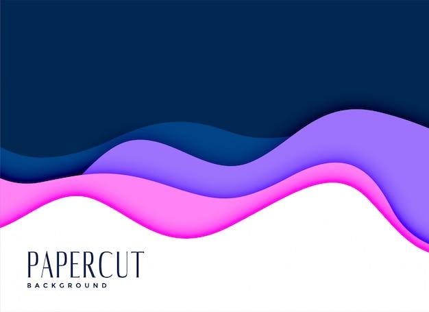 Stijlvolle achtergrond van layred papercut concept Gratis Vector