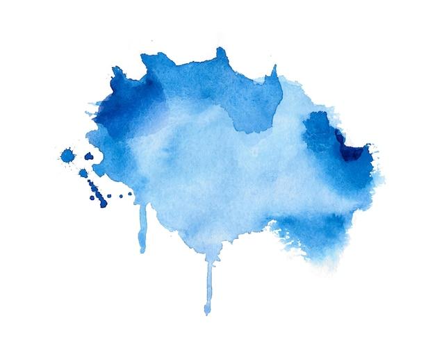 Stijlvolle blauwe aquarel vlek textuur achtergrond Gratis Vector