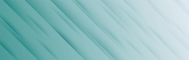 Stijlvolle brede banner met diagonaal strepenpatroon Gratis Vector
