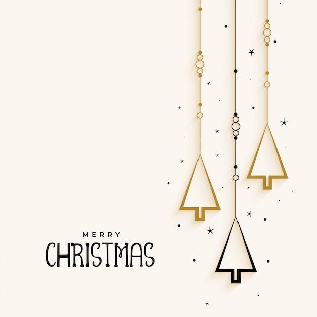 Stijlvolle kerstboom elegante achtergrond Gratis Vector