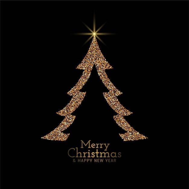 Stijlvolle merry christmas decoratieve boom achtergrond Gratis Vector