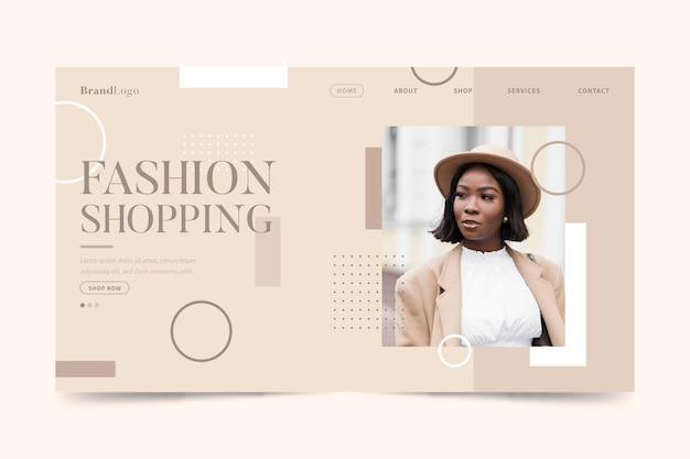Stijlvolle model fashion sale bestemmingspagina Gratis Vector