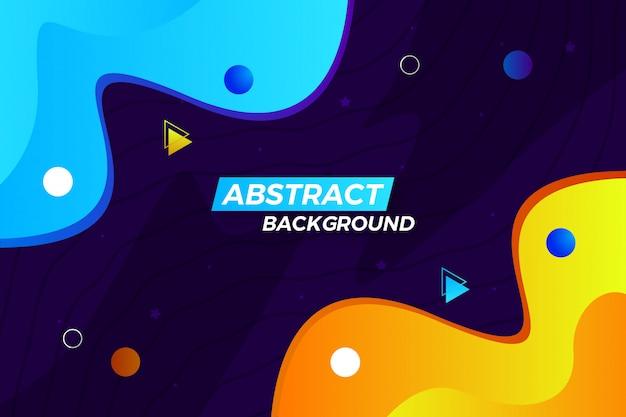 Stijlvolle moderne abstracte golf achtergrond met vormen en lijnen Premium Vector