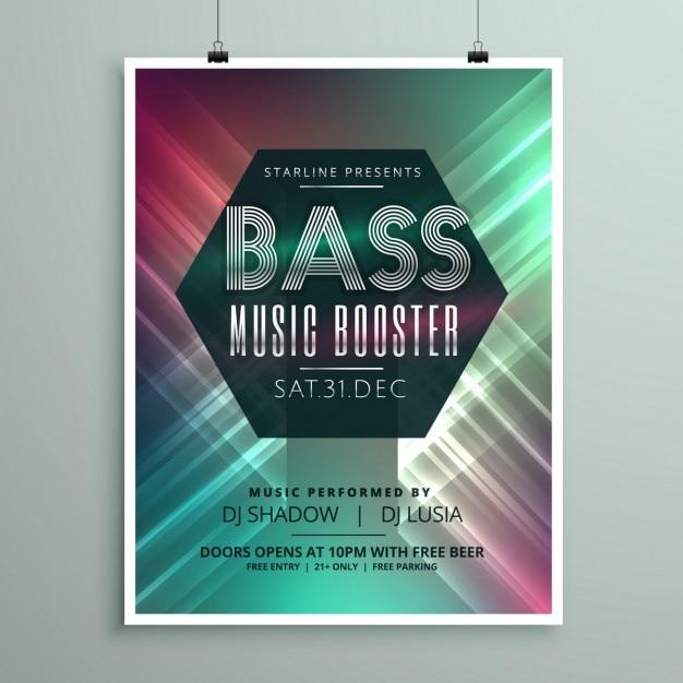 Stijlvolle Muziek Partij Event Flyer Brochure Sjabloon Voor Uw Evenement Gratis Vector