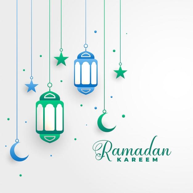 Stijlvolle ramadan kareem islamitische festival achtergrond Gratis Vector