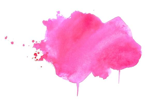 Stijlvolle roze aquarel vlek textuur achtergrond Gratis Vector