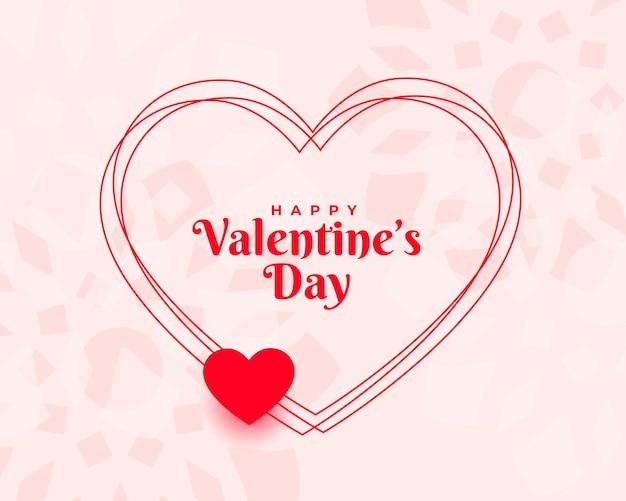 Stijlvolle valentijnsdag wenst kaart achtergrond Gratis Vector