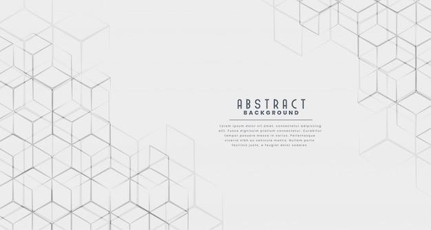 Stijlvolle zeshoekige lijn abstracte achtergrond Gratis Vector