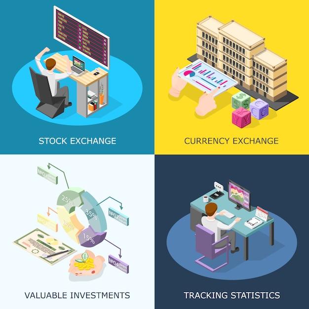 Stock exchange concept Gratis Vector
