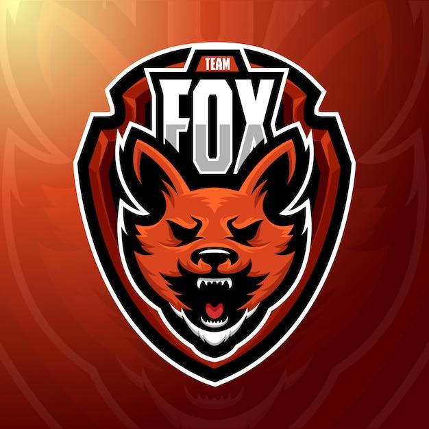 Stock vector fox mascotte logo illustratie. Premium Vector