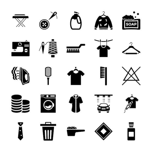 Stomerij solid icons pack Premium Vector