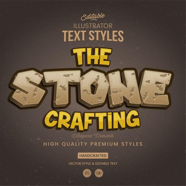 Stone & rock-tekststijl Premium Vector