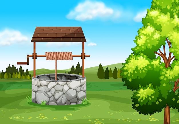 Stone wil in het veld illustratie Gratis Vector