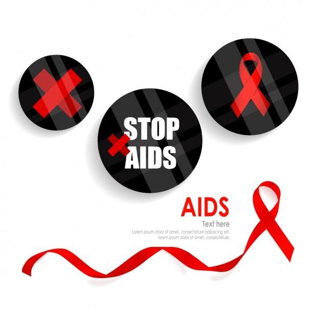 Stop aids achtergrond Gratis Vector
