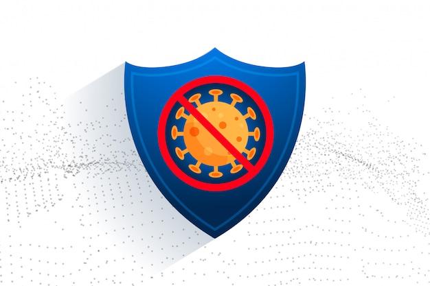 Stop de coronavirusbescherming voor medisch gebruik Gratis Vector