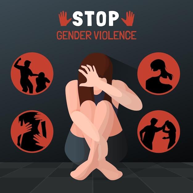 Stop gendergeweld Gratis Vector